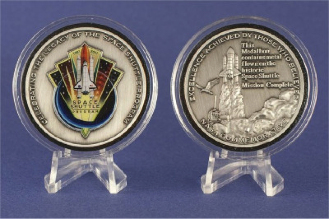 Space Shuttle NASA Commemorative Award Medallion Collectable