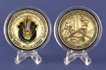 Space Shuttle NASA Official Mission Complete Commemorative Medallion Collec