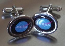 NASA Logo Shirt Cufflinks