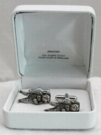 Astronaut Cufflinks English Pewter NASA Space Apollo Moon Landing