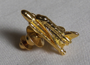 Gold NASA Space Shuttle Pin Badge
