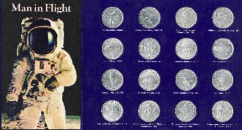 Rare Complete 16 Coin Set Commemorating Man In Flight Collection