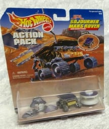 SPACE JPL NASA SOJOURNER MARS ROVER ACTION PACK BY MATTEL IN 1996