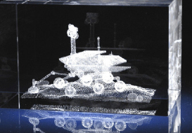 Nasa Mars Rover SPIRIT OPPORTUNITY 3D Laser Etched Crystal Desk Table Displ