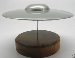 Area 51 UFO Flying Saucer High Detail Quality Model On Wood Stand