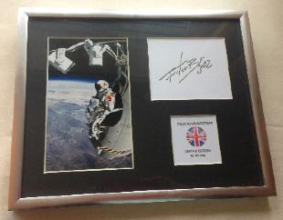 Red Bull Stratos Mission Felix Baumgartner Framed Signed Mount Display