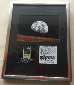 Very Rare Earth From Moon Orignal Ltd Edition May 5th 1969 Stamp Framed Mou
