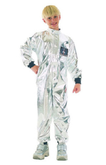 Childrens Kids Astronaut Fancy Dress Costume Space Spaceman Outfit 7-10 Yrs