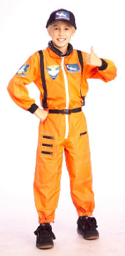 Kids Spaceman Suit NASA Astronaut Boys Fancy Dress Costume Party Outfit