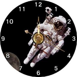 NASA Astronaut Spaceman Space Suit Office Room CD Clock