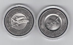Final Mission NASA Flown 747 Space Shuttle Medallion Discover Enterprise En