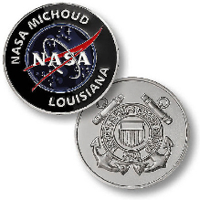 NASA Michoud Navigation Aids United States Coast Guard Challenge Coin