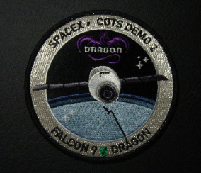 OFFICIAL NASA/SPACEX FALCON 9 COTS DEMO 2 DRAGON COATED BACK PATCH