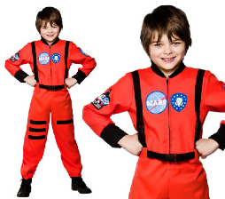 Nasa Astronaut Jumpsuit Boys Fancy Dress Space Uniform Kids Childs Costume