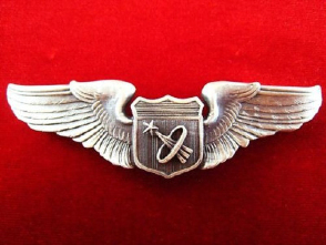 NASA US ASTRONAUTS PILOT US AIR FORCE PILOTS WINGS BADGE FOR SPACE MISSION