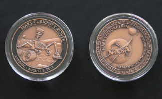 NASA Space Program Commemorative Mars Curiosity Rover Medallion Coin Collec