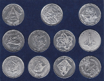 NASA Space Shuttle Maiden & Final Flights-A Collection of 11 Minted Space M