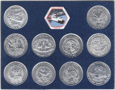 NASA ORBITER CHALLENGER COMPLETE MISSION SERIES-SEALED 39MM Medallion Coin