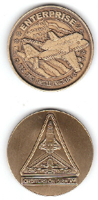 NASA SHUTTLE ENTERPRISE ORBITER PROTOTYPE ANTIQUE MEDALLION BRONZE MINTED