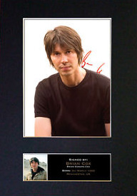 BRIAN COX physicist Signed Autograph A4 210x297mm Mounted Photo Print Space