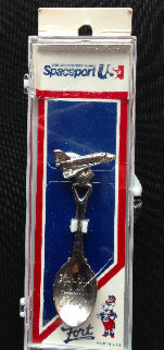 Space Shuttle Collectable Spoon Kennedy Space USA