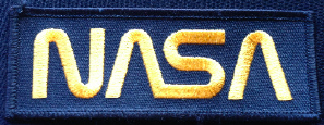 NASA Classic Gold Logo Patch