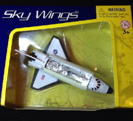 Rare Sky Wings NASA Space shuttle Diecast Model With Moving Bay Doors