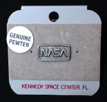 Genuine Pewter NASA Logo Pin Badge Rare