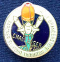 Rare Space Shuttle Challenger Pin Badge