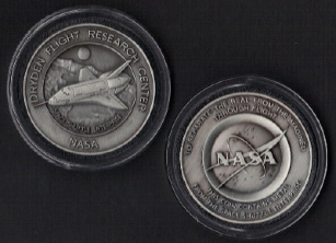 ENTERPRISE NASA DRYDEN MEDALLION CONTAINS FLOWN METAL FROM SHUTTLE ENTERPRI