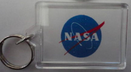 NASA Space Logo 2 Sided Photo Keyring