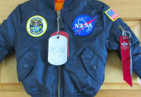 NASA Small Jacket Size 2T Age 3-4 Alpha Industries USA Space Command