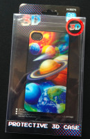 3D Planets iPhone 4 & 4S Hard Protective Case Cover