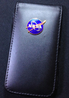 Executive NASA Metal Plaque Logo iPhone 5 or 5S SE Leather Case