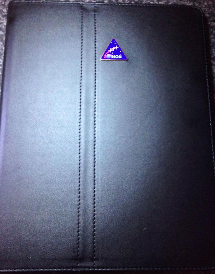 NASA Orion New Crew Exploration Metal Logo iPad 2 3 4 Leather Case