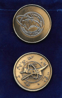 NASA ORION EXPLORATION FLIGHT TEST EFT-1 COMMEMORATIVE 39MM ANTIQUE BRONZE COIN