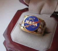 Mens NASA Gold Ring In Presentation Box Rare
