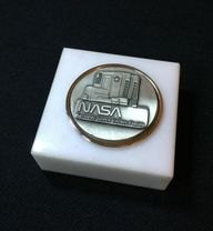NASA Quality Pewter And Marble Paperweight