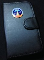 Executive NASA STS 133 Metal Plaque Logo iPhone 4 or 4S Leather Case