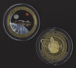 ORION EFT-1 EXPLORATION SPACE FLIGHT TEST OFFICIAL NASA USAF MEDALLION