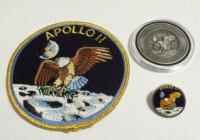 Apollo 11 Coin Flown To Moon Patch Pin Collector Medallion NASA Space Program