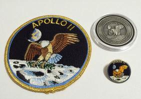 Apollo 11 Coin Flown To Moon Patch Pin Collector Medallion NASA Space Progr