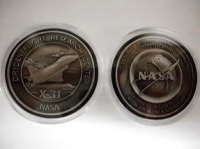New Release X-31 Medallion Coin Contains Flown Aircraft Metal NASA Space Program