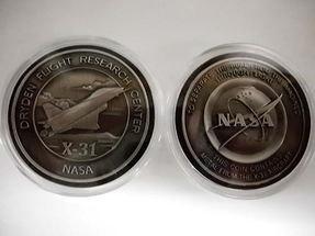 New Release X-31 Medallion Coin Contains Flown Aircraft Metal NASA Space Pr