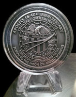 Apollo 16 Flown in Space Material Medallion (NASA Moon Flown)