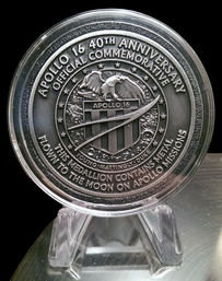 Apollo 16 Flown in Space Material Medallion (NASA Moon Flown)