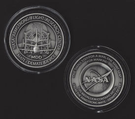 NASA MDD SPACE SHUTTLE MATE DEMATE DEVICE ARMSTRONG FLIGHT RESEARCH MEDALLI