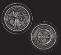 NEW LLRV LUNAR LANDING RESEARCH VEHICLE ARMSTRONG FLIGHT RESEARCH NASA MEDALLION