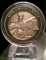 Mars Curiosity Test Material Medallion (NASA)
