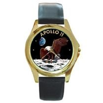 NASA APOLLO NEIL ARMSTRONG SPACE MISSION ROUND FACE WATCH